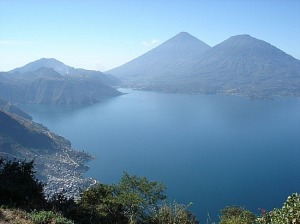 Lake Attitlan in Guatemala